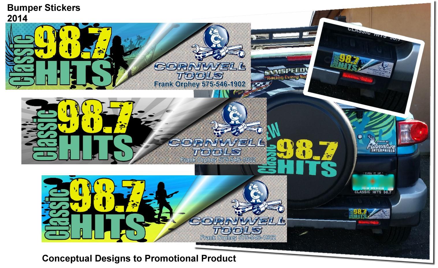 Car sticker design sample - Sponsored Bumper Stickers For Radio Contest Promotion